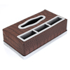 Brown Crocodile Pattern Faux Leather Car Vehicle Paper Tissue Box Case Holder