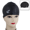 Soft Silicone Elastic Swimming Swim Cap Hat Black for Women Men