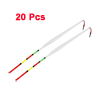 20pcs 24cm Length Multicolor Fine Tip Plastic Fishing Float Wagglers Bobber