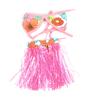 Orange Red Flower Decor Elastic Waist Straps Halloween Skirt for Dog