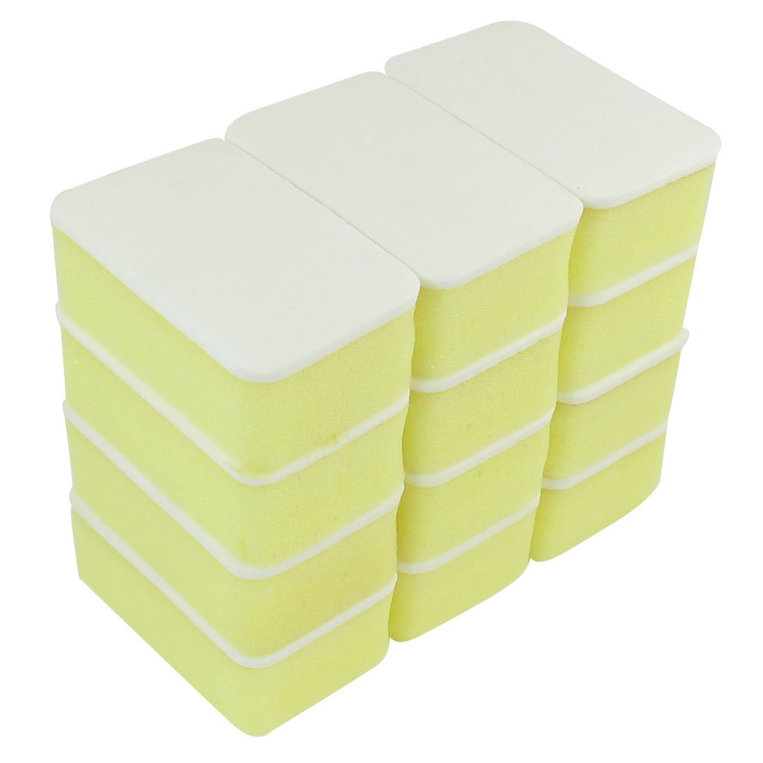 12 Pcs Yellow White Soft Wax Waxing Polishing Sponge for Auto Cars