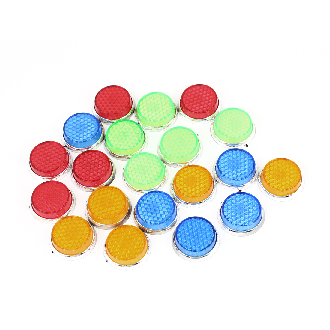 20 Pcs Assorted Color Plastic Rounded Sticker Decals for Car