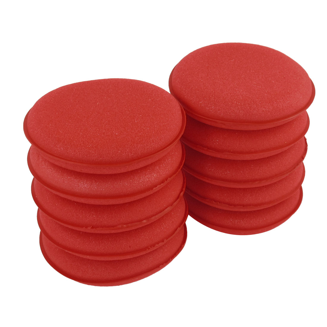 10 Pcs Round Red Soft Sponge Wax Waxing Polishing Wheel 10cm Dia for Auto