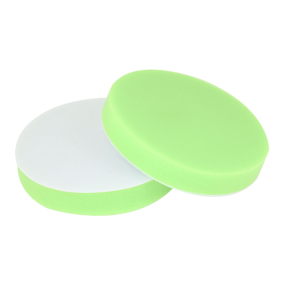 2 Pcs Green Soft Sponge Wax Waxing Polishing Wheel 14.8cm Dia for Auto