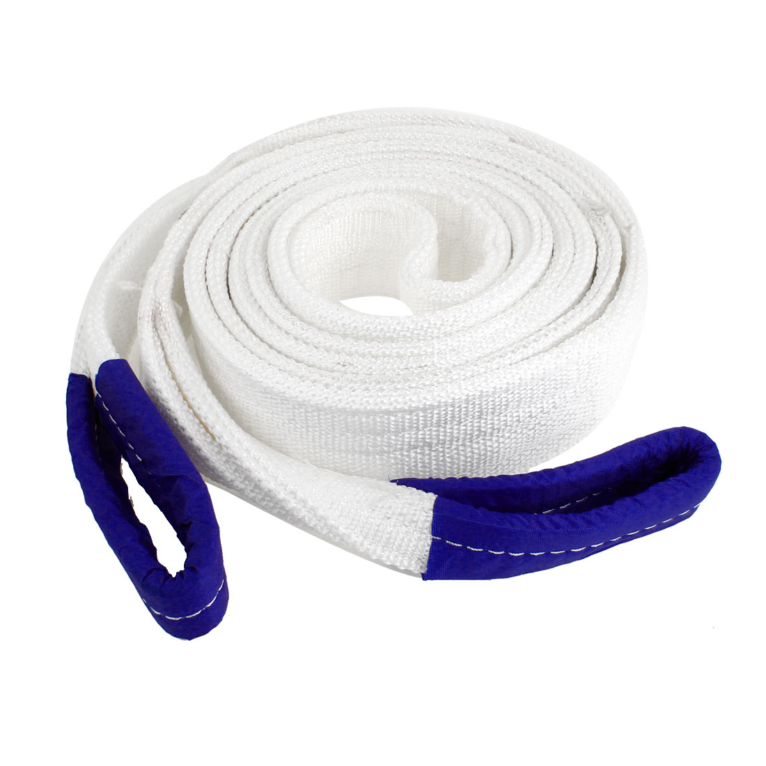 4M x 60mm Nylon Security Double Layers Towing Rope White 8 Tons for Car