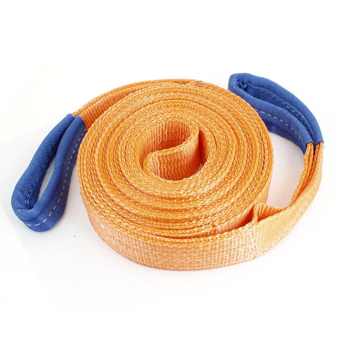 5M x 50mm 2 Tons Nylon Double Layers Emergency Towing Strap Rope Orange