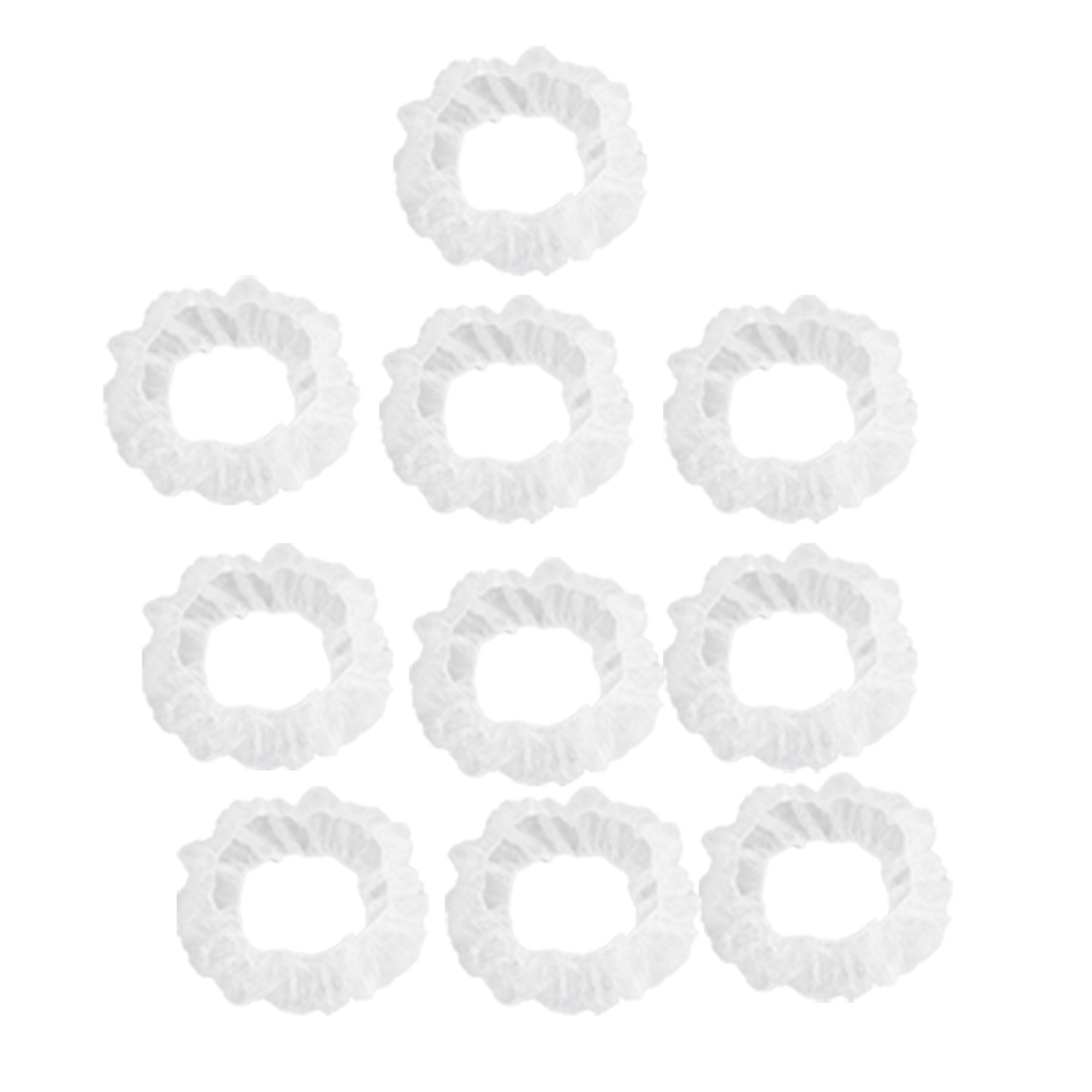 10 Pcs Clear White Plastic Disposable Steering Wheel Cover for Car