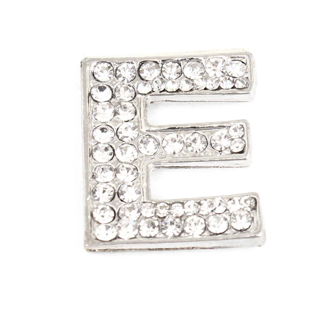 Letter E Shape Rhinestones Metal Decorative Adhesive Sticker for Automobile Car