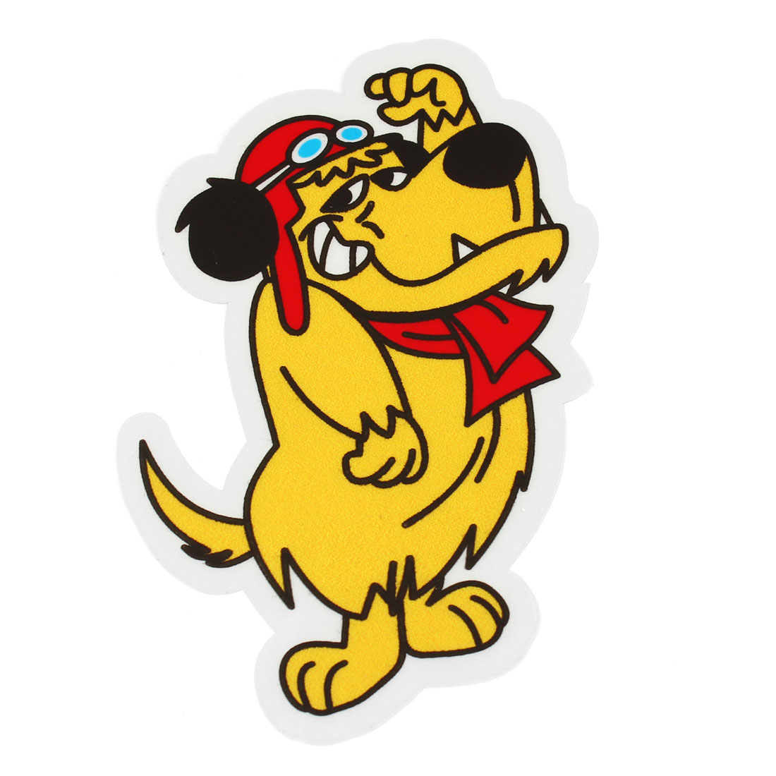 Yellow Red Dog Pattern Vinly Sticker Decal for Auto Decor