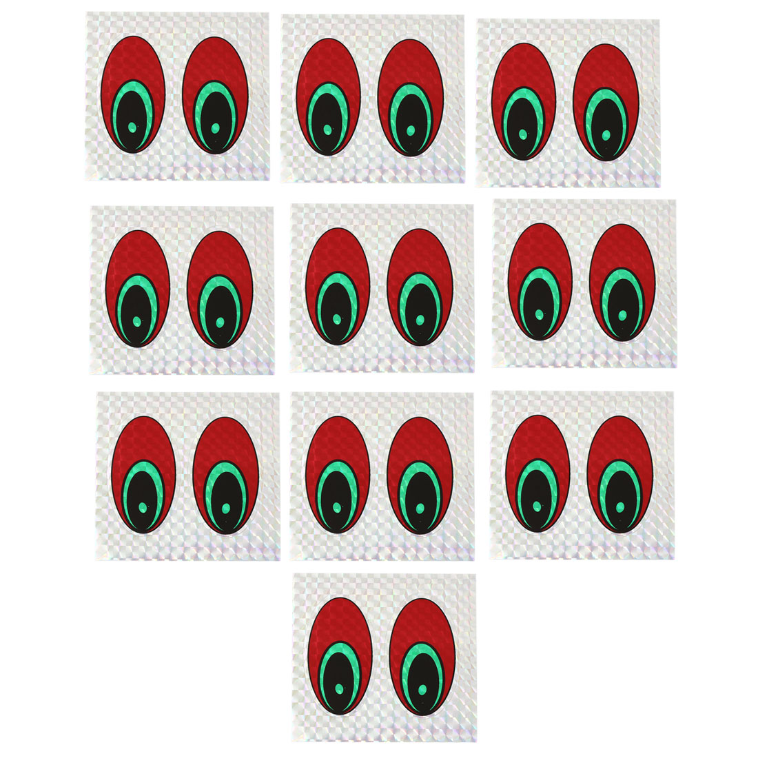 Vehicle Car Black Red Eyes Pattern Decorative Decals Stikers x 10