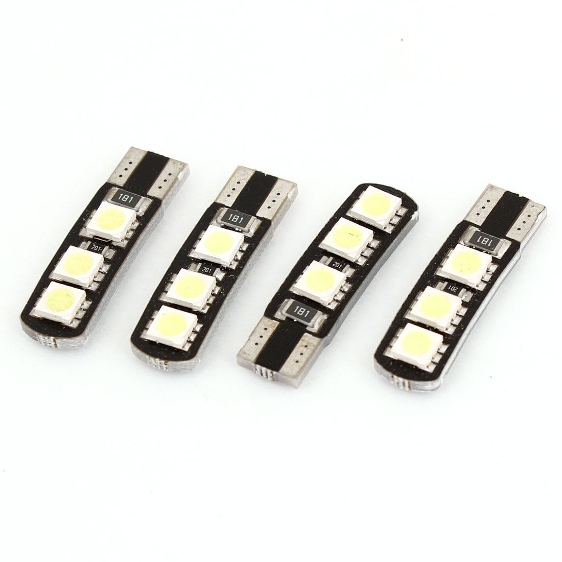 4 Pcs T10 6 White 5050 SMD LED Auto Car Error Free Canbus Light