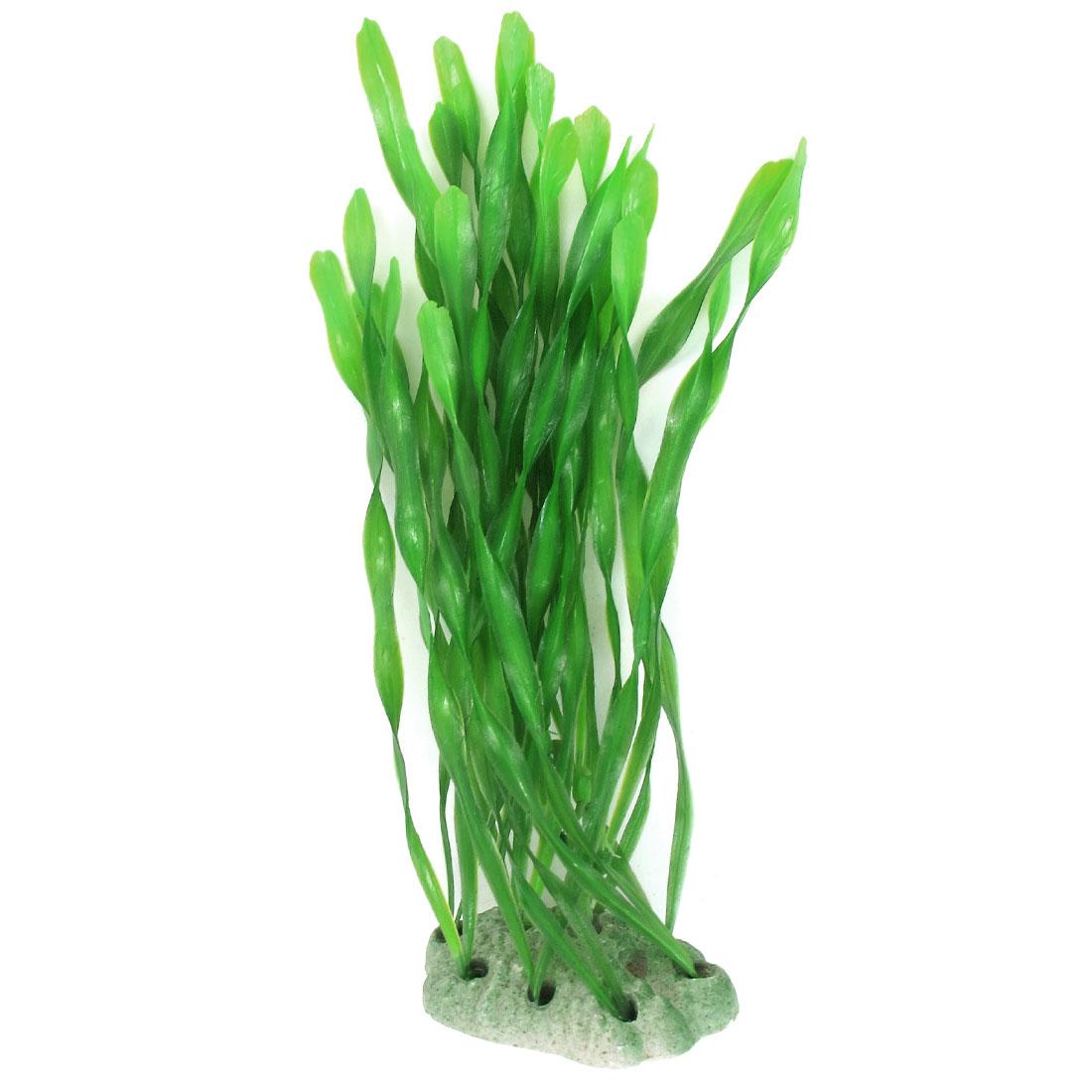 "Green Emulational Aquarium Grass Water Plant Adorn 8.3"" Height for Fish Tank"
