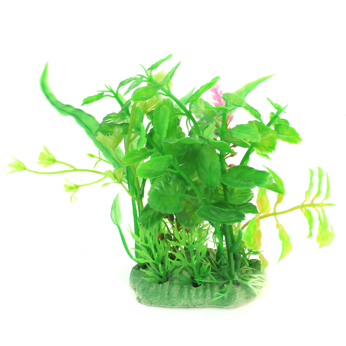 "5.1"" Height Aquarium Green Grass Plastic Plants Decoration for Fish Tank"
