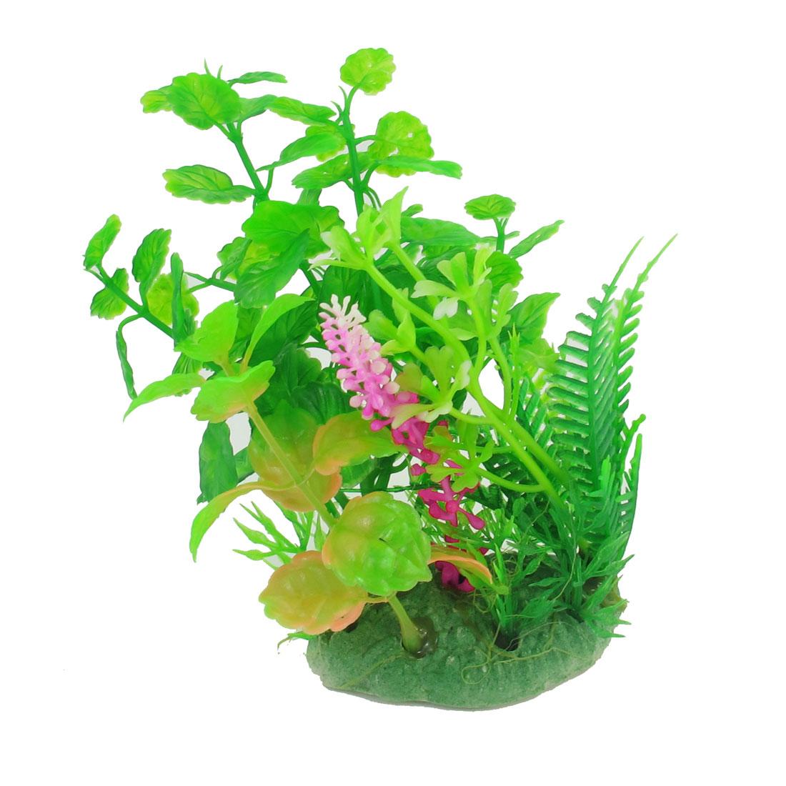 "5.1"" Height Green Artificial Manmade Aquarium Decoration Grass Plant"