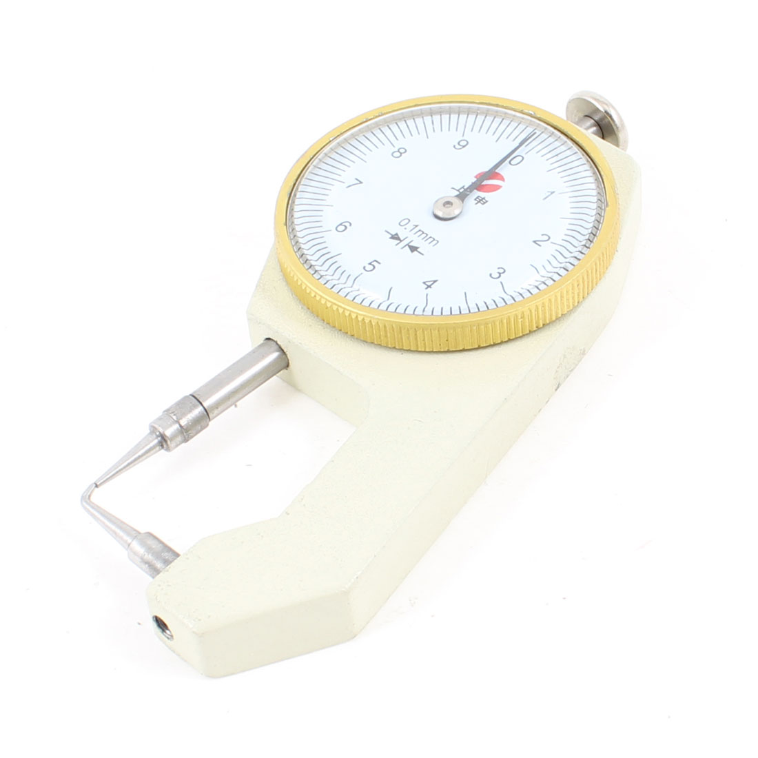 Dial Indicator Pocket Thickness Gauge Gage 0 to 10mm Silver Tone Beige