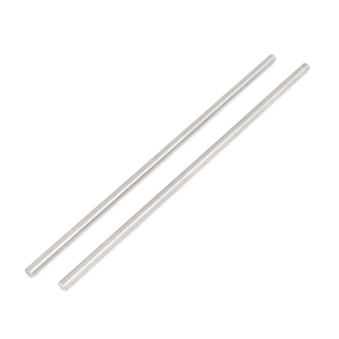 2.5mm x 100mm Graving Tool Round Turning Lathe Bars Silver Tone 2 Pcs
