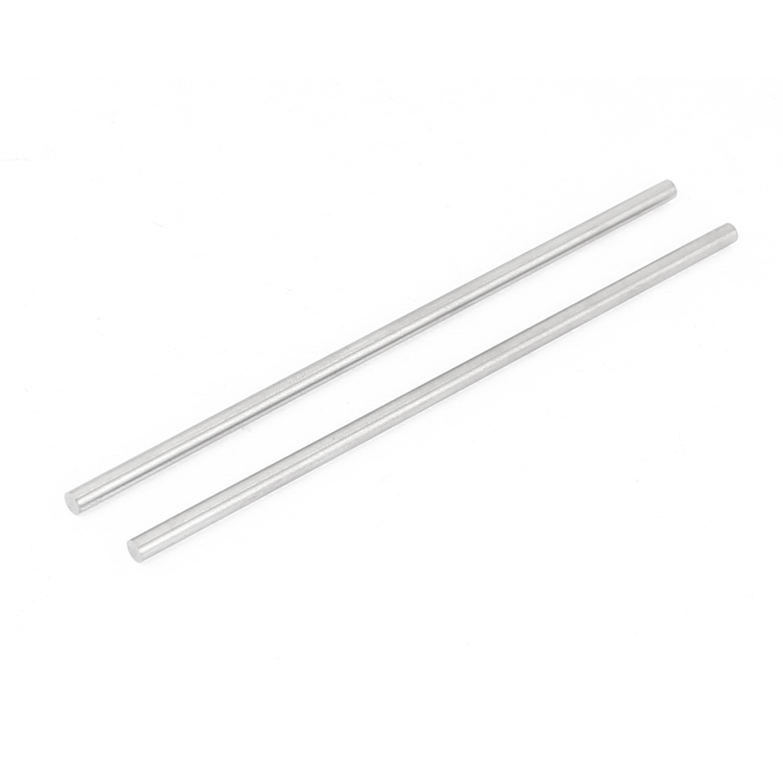3mm x 100mm Graving Tool Round Turning Lathe Bars Silver Tone 2 Pcs