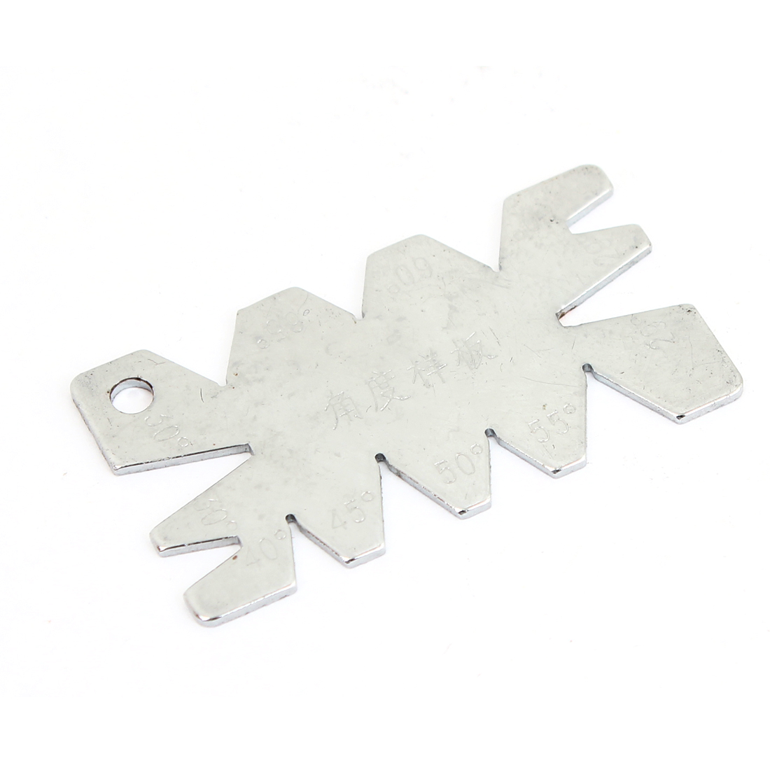 Screw Cut Angle Measuring Thread Cutting Gauge Silver Tone