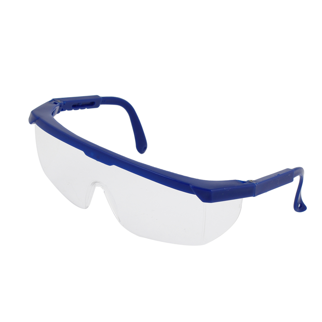 Man Blue Rubberized Plastic Arms Half Rim Eyes Goggles