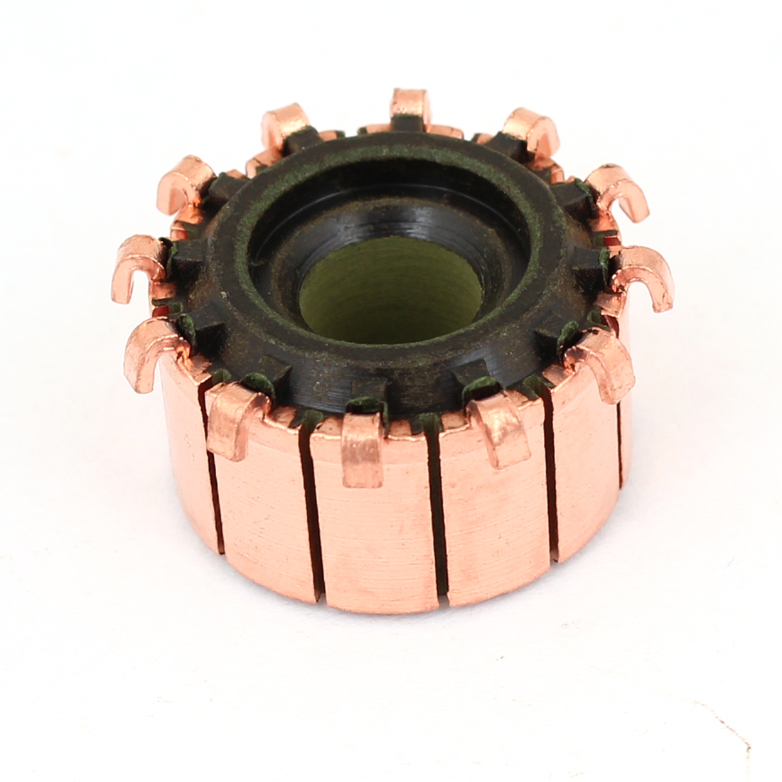 18.9mm OD 11.7mm Height 12 Tooth Copper Shell Mounted On Armature Commutator