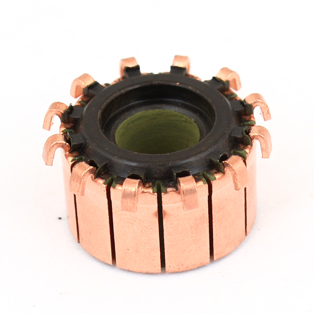 8mm Shaft Dia 18.9mm OD 12 Tooth Copper Shell Electric Motor Commutator