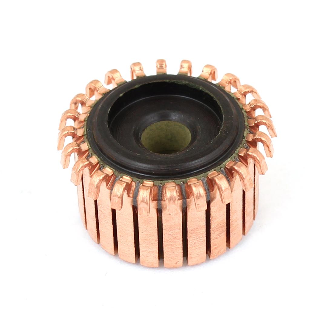 5mm Shaft Dia 18.9mm OD 24 Pcs Tooth Copper Shell Electric Motor Commutator