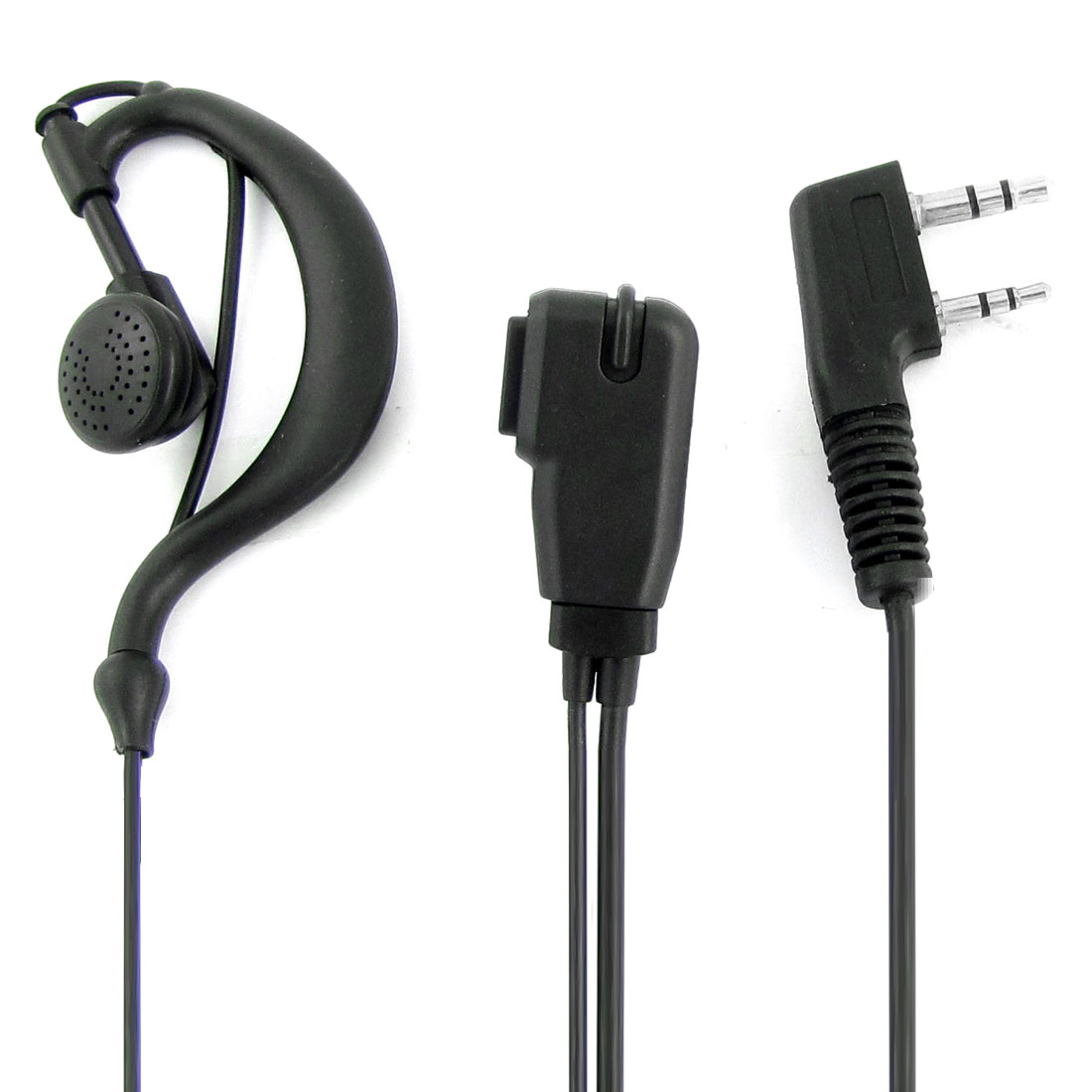 Black 2.5mm 3.5mm Plug One Side Earphone Microphone for Kenwood 3107