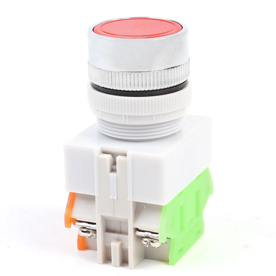 AC 660V 10A 1NO+1NC Contact Momentary Round Red Pushbutton Switch