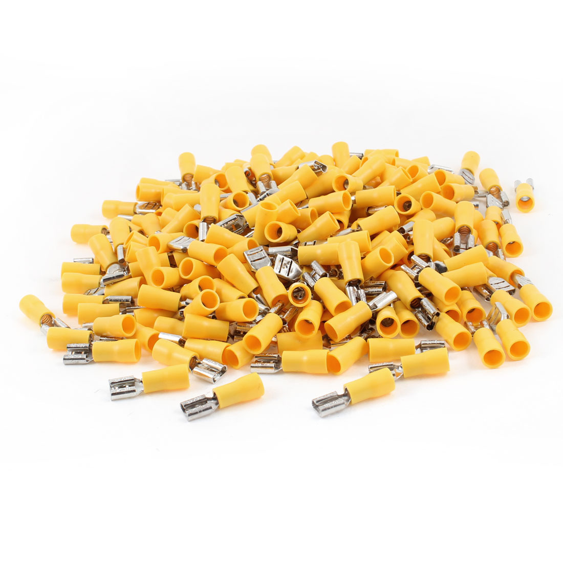 FDD5.5-250 Pre Insulated Spade Crimp Terminals Yellow 500pcs for AWG 12-10