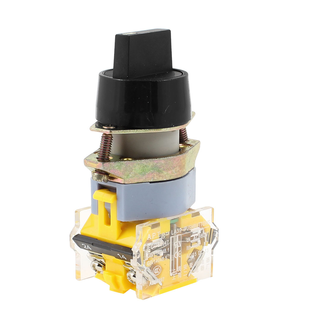 AC 660V 10A 4 Terminal 3-Position 1NO 1NC Latching Rotary Selector Switch