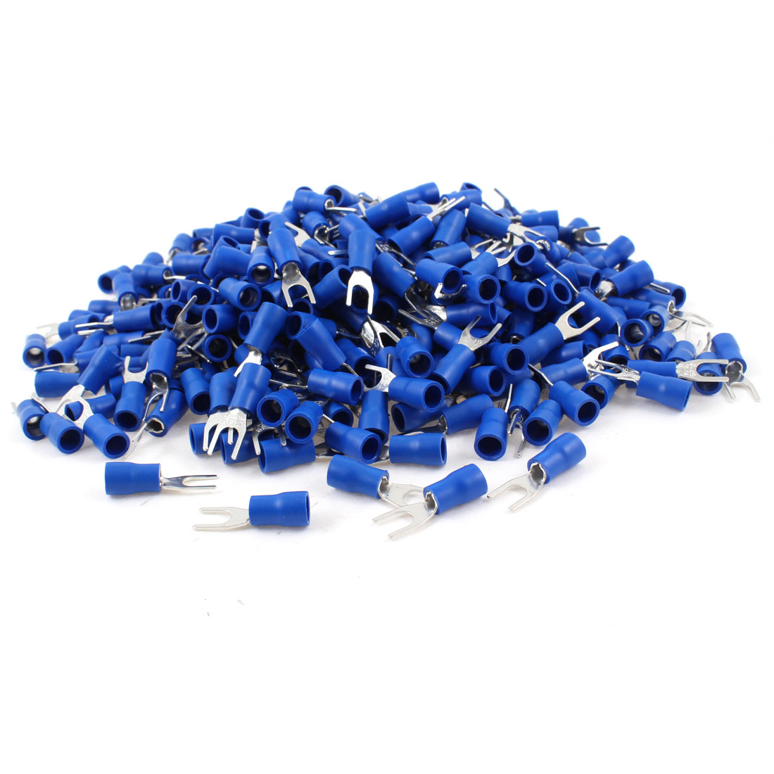 1000 Pcs Blue Pre Insulated Fork Terminals SV2-4S for AWG 16-14 Wire #8 Stud