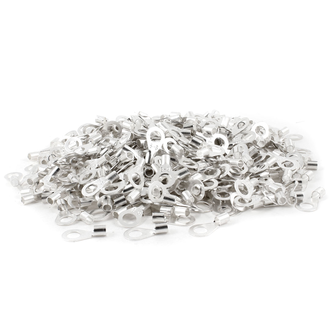 """1000 PCS 0.3"""" Stud 0.2"""" Wire Non Insulated Bare Ring Lug Terminal Connector"""