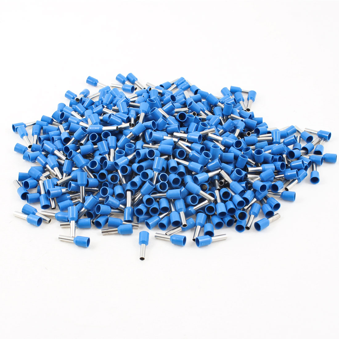 PVC Blue 14 AWG Insulating Tube Terminal Connector 1000pcs