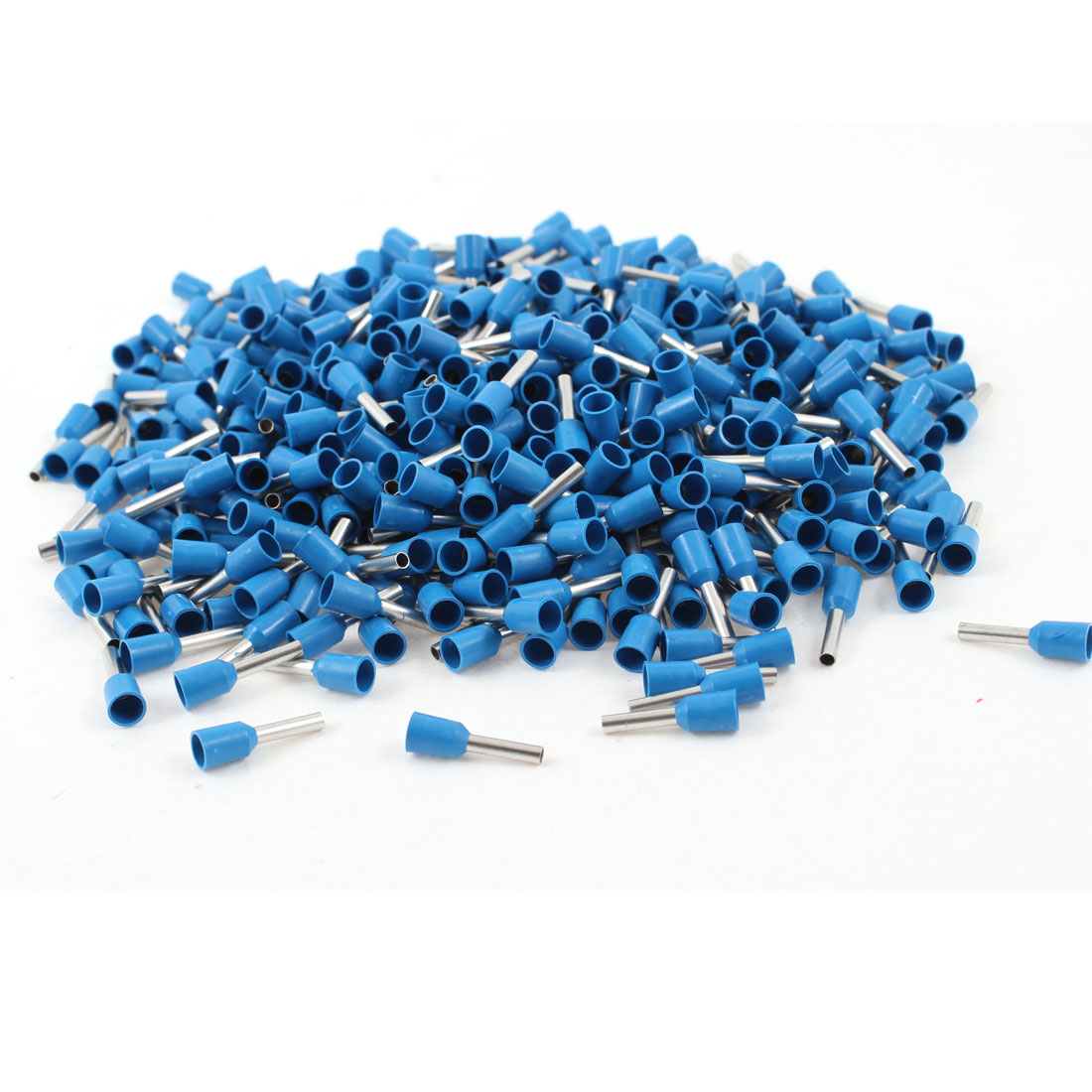 1000Pcs Crimp Connector Insulated Pin Terminal Blue for AWG 16 Wire