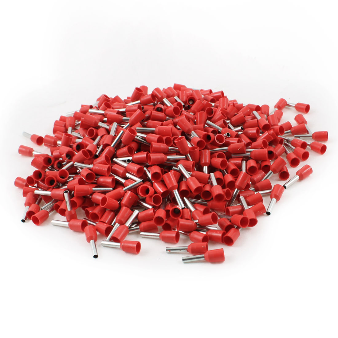 AWG 16 Wire Copper Insulated Tube Head 8mm Long Pin Terminal Red 1000Pcs