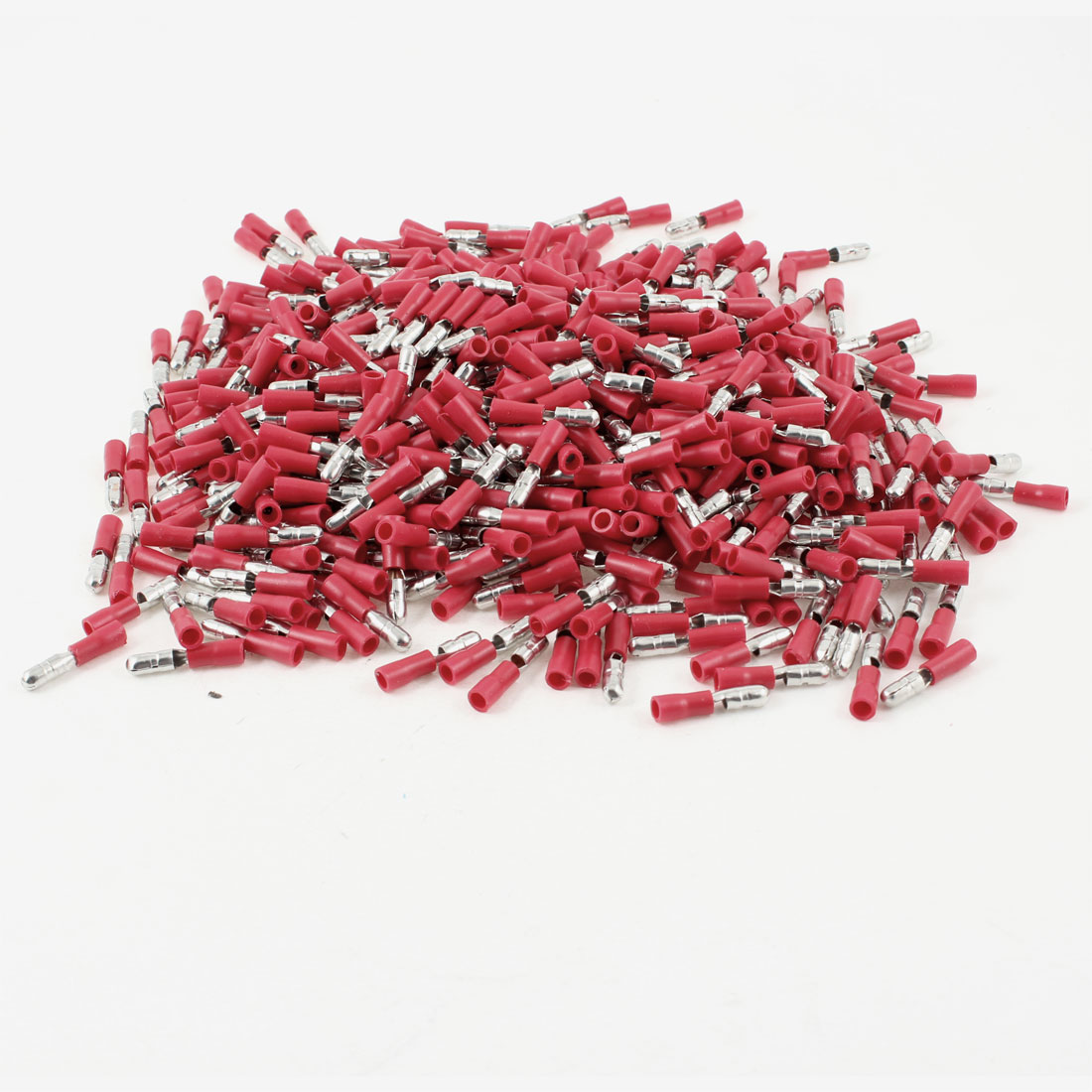 1000 Pcs Red Wire Connector Insulating Crimp Terminals Cable Lug for 16-14 AWG