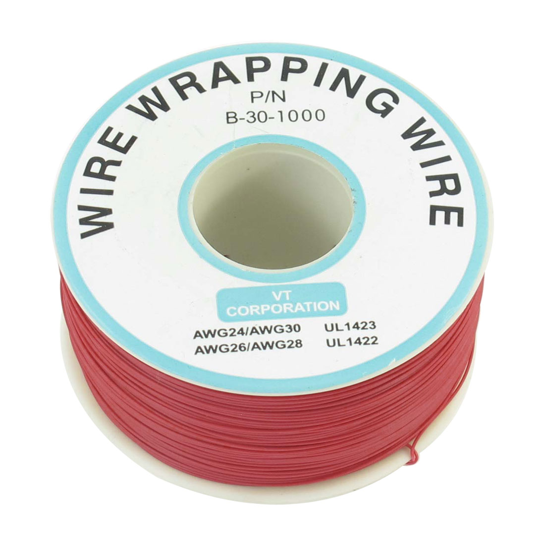 250M 30AWG Tin Plated Copper Wire Insulation Test Wrapping Cable Roll Red