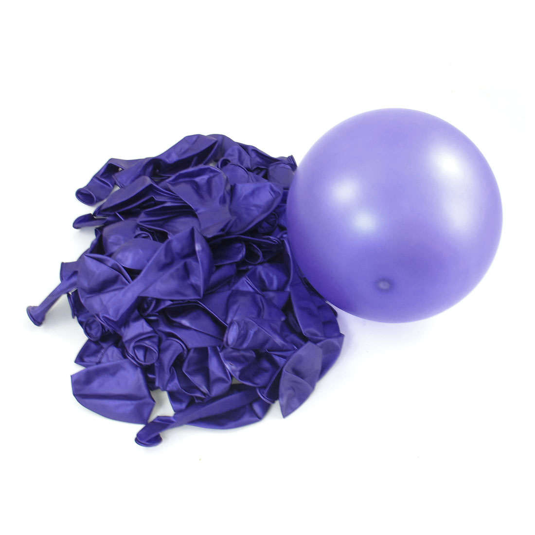 80 Pcs Purple Party Wedding Party Decoration Latex Circle Balloons