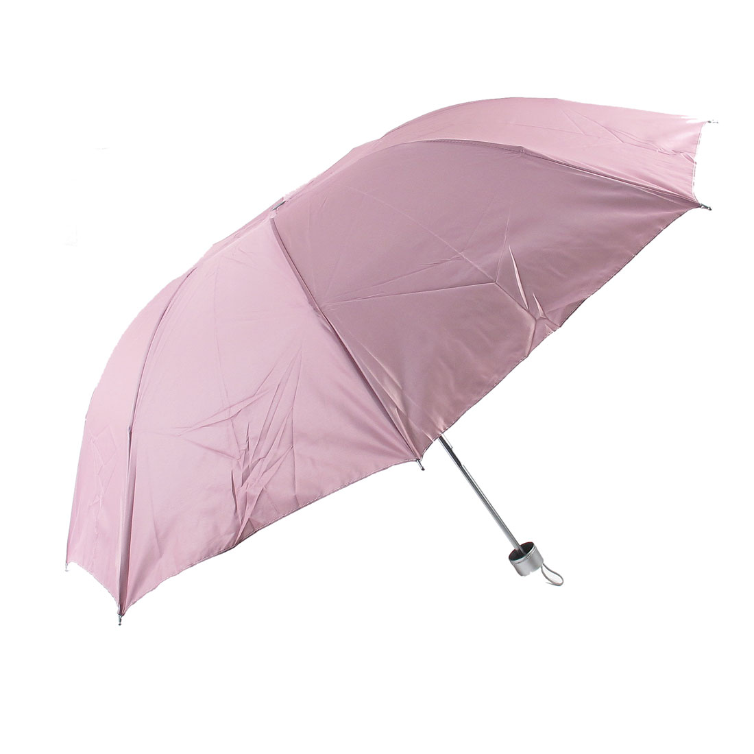 Pink Polyester Telescopic Shaft Foldable Sun Umbrella Parasol