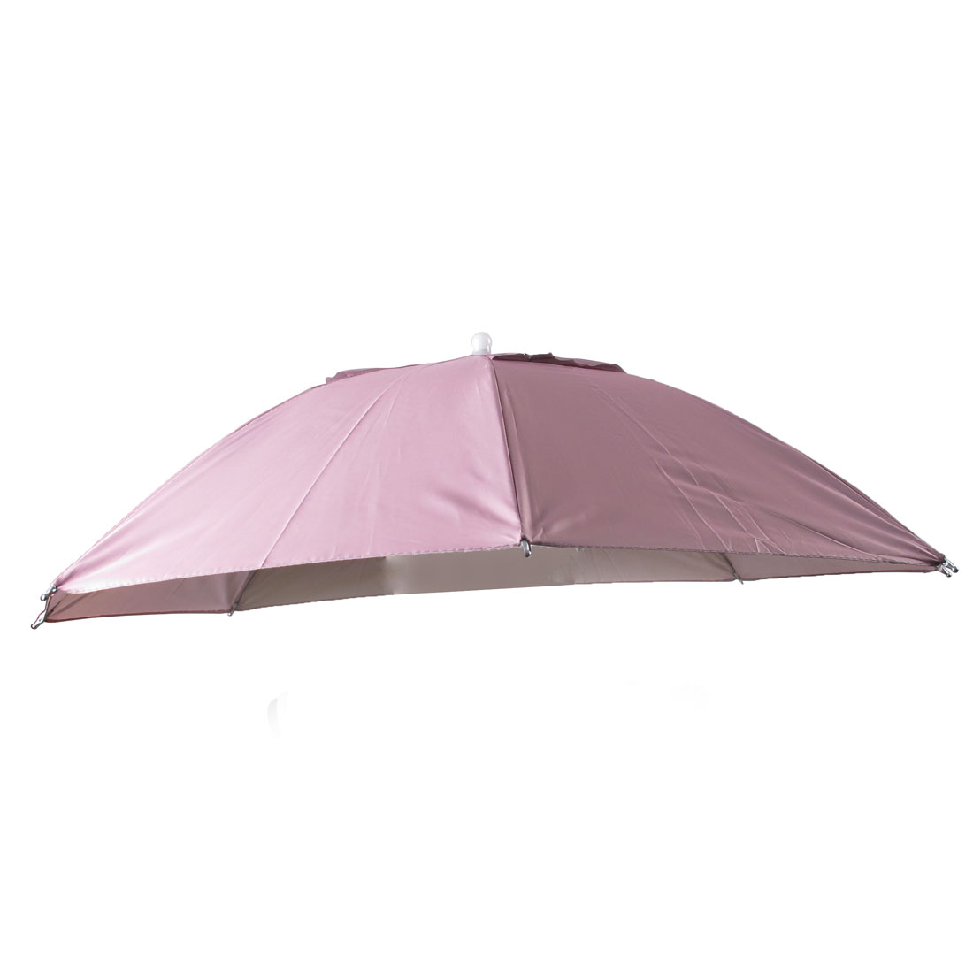 Travel Camping Light Pink Polyester Foldable Sun Umbrella Hat