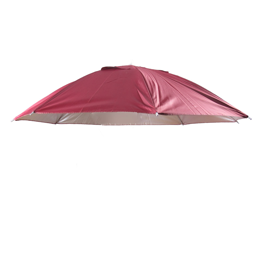 Portable Fishing Golf Beach Hands Free Umbrella Hat Burgundy