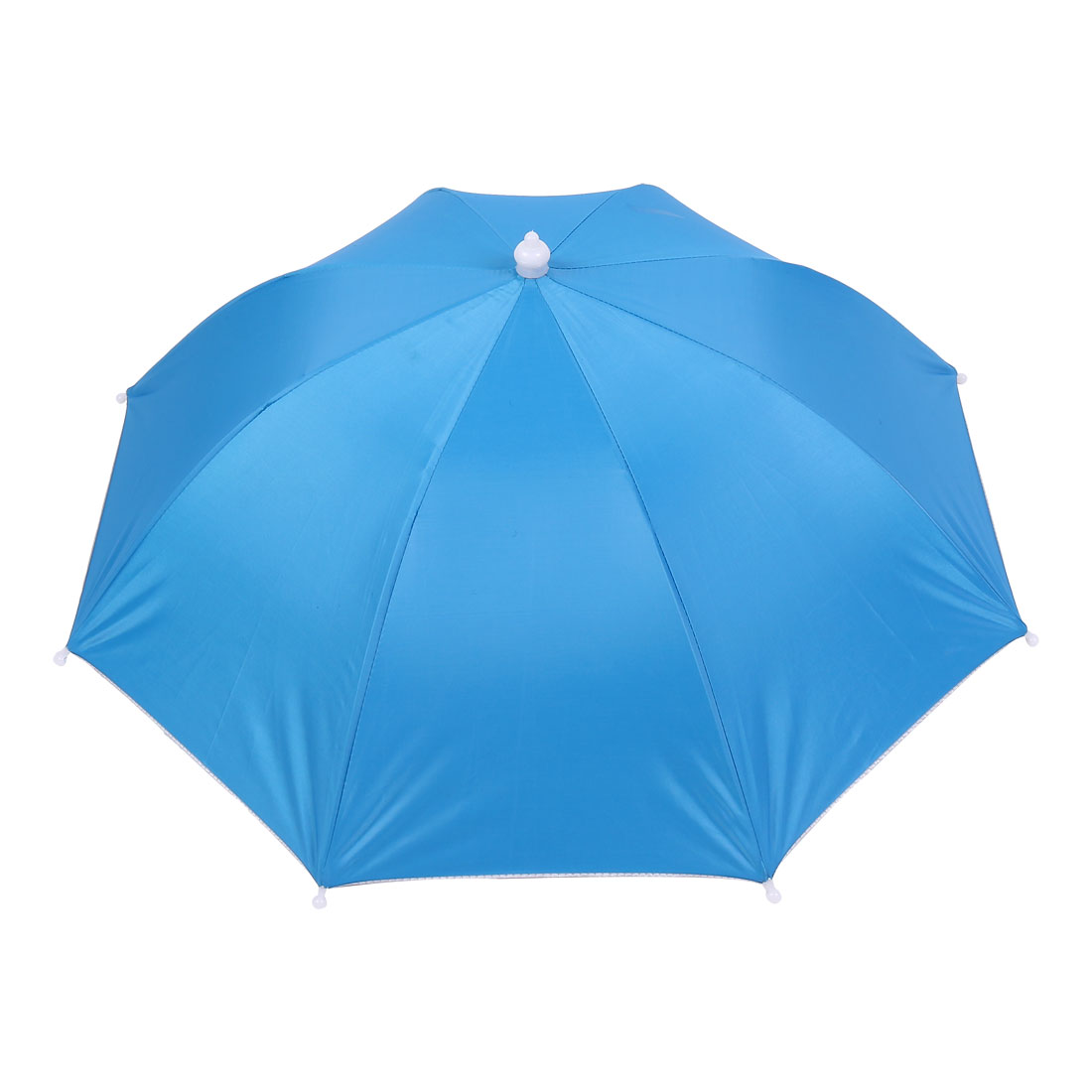 Travel Camping Baby Blue Polyester Foldable Sun Umbrella Hat