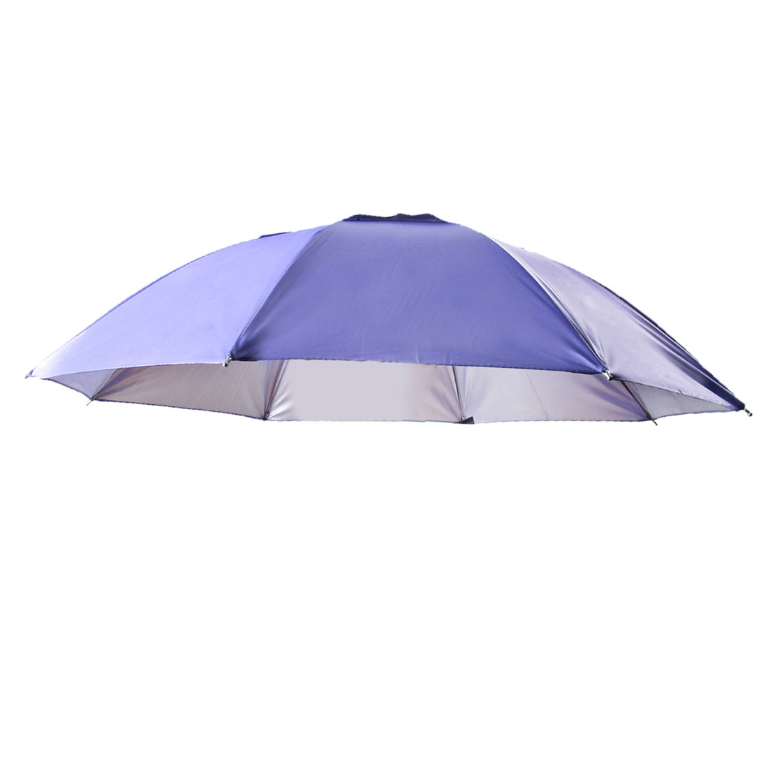 Travel Camping Light Purple Polyester Foldable Sun Umbrella Hat