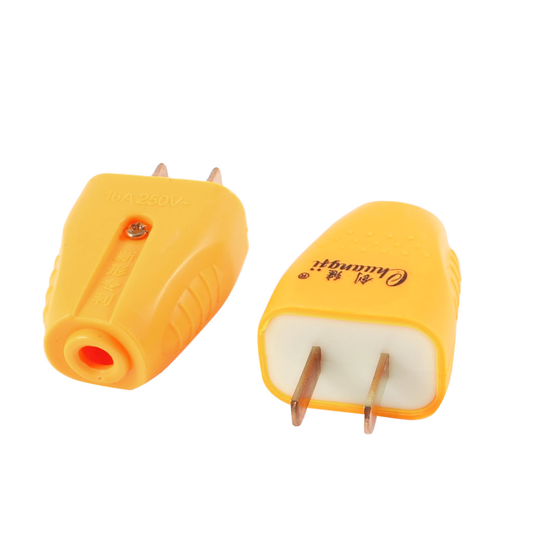 2 Pcs Plastic Housing US 2 Pin Power Plug Connector Replacement 250VAC 16A
