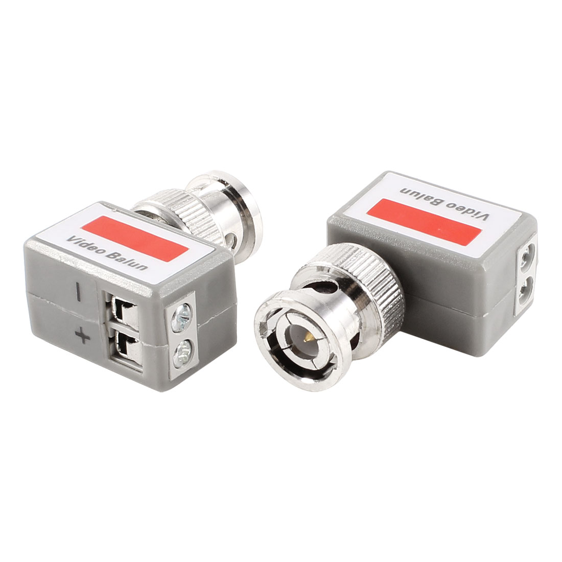 Coax CAT5 90 Degree Camera CCTV BNC Video Balun Transceiver Connector Pair