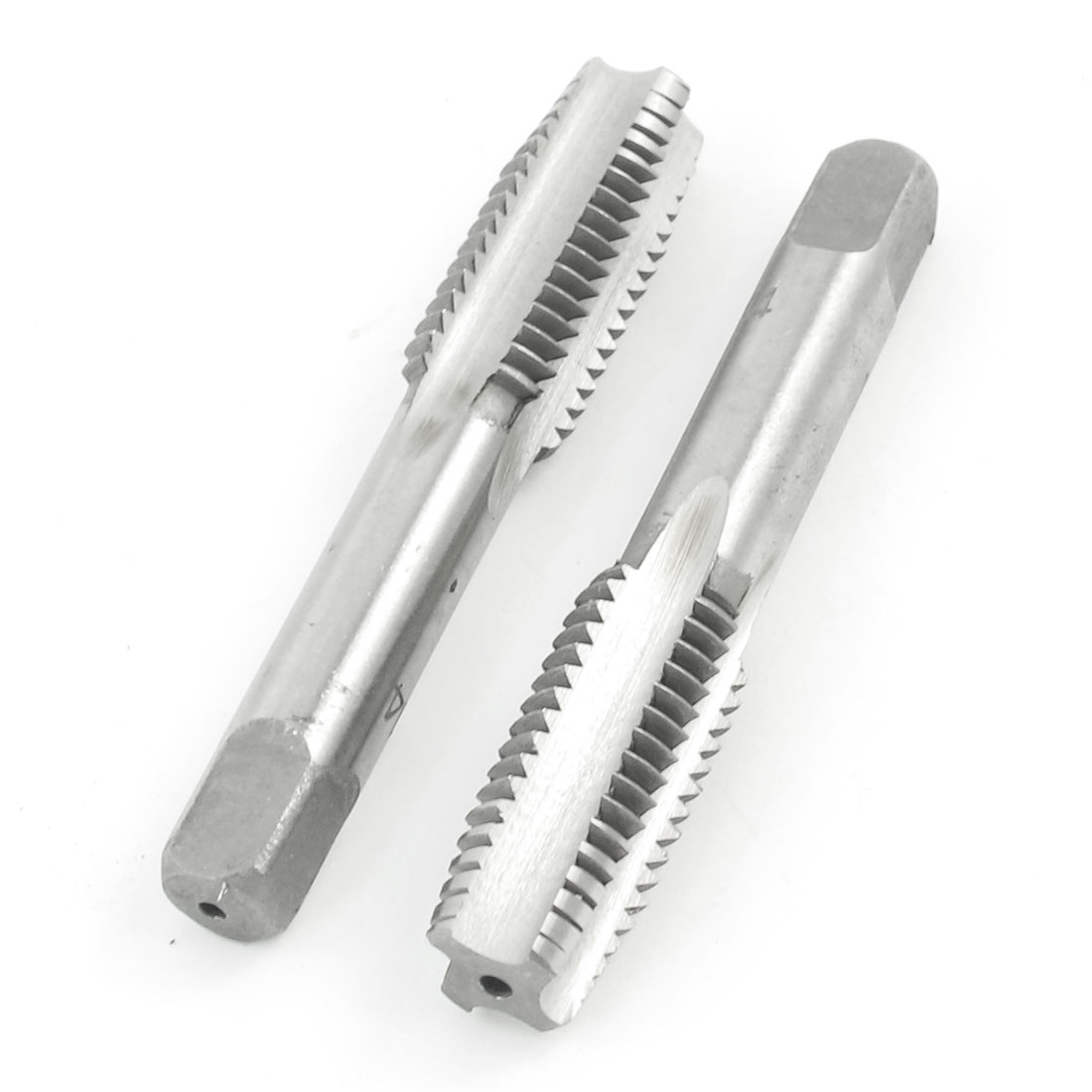 2 Pcs Straight M14 Dia. Screw Type Flute Bottom Plug Tap Bits