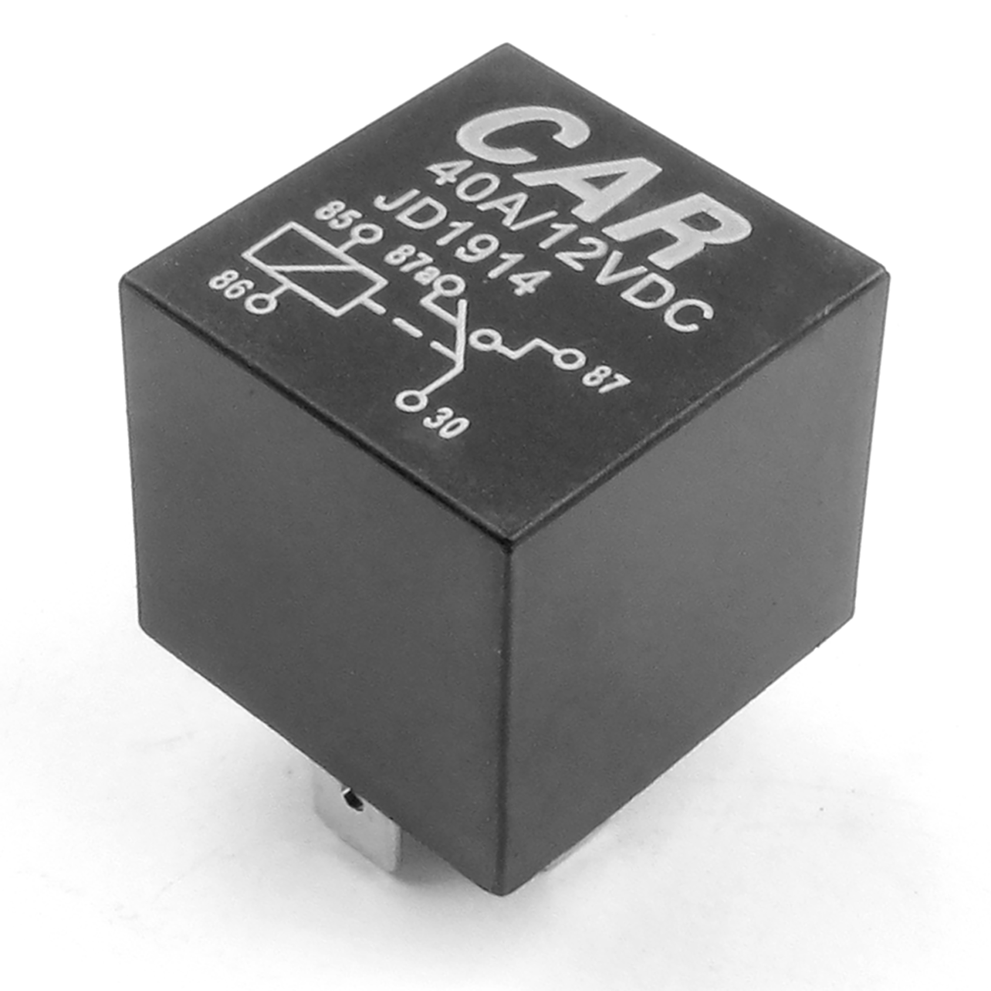 Auto Vehicle Car 5 Pin Power Relay DC 12V 40A Black