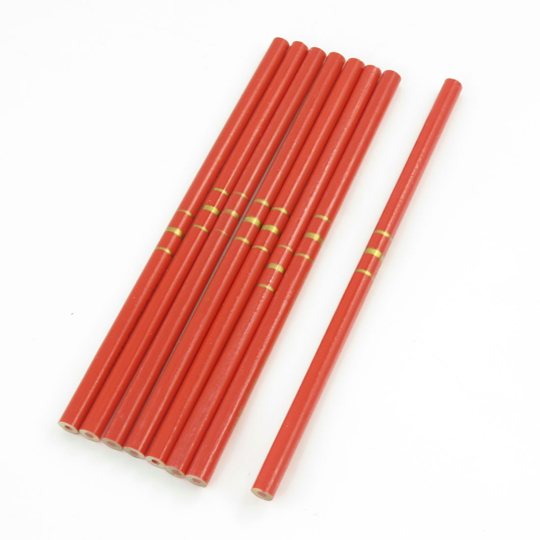 "8 Pcs 6.9"" Long Red Wooden Writing Painting Drawing Pencil"