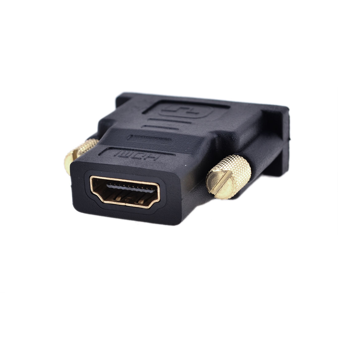 Gold Tone DVI-D Dual Link 24+1 Male to HDMI Female Audio Video Adapter