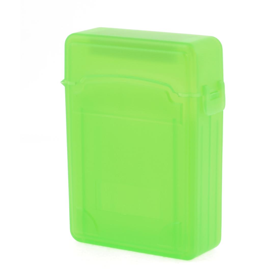 "Double Layer Antislip 2.5"" SATA HDD Storage Hard Drive Case Box Green"